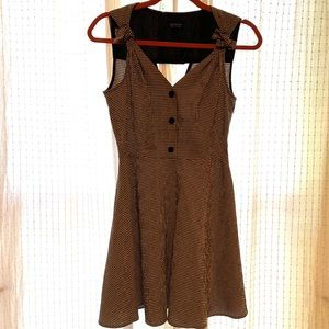Topshop black and white gingham mini dress